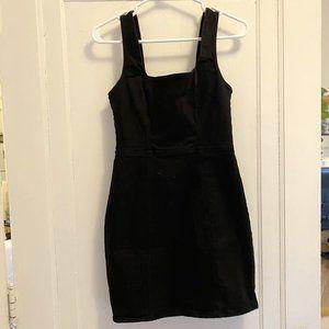 Urban Outfitters black denim mini dress